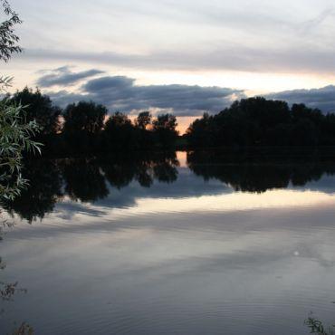 De Waal bij zonsondergang